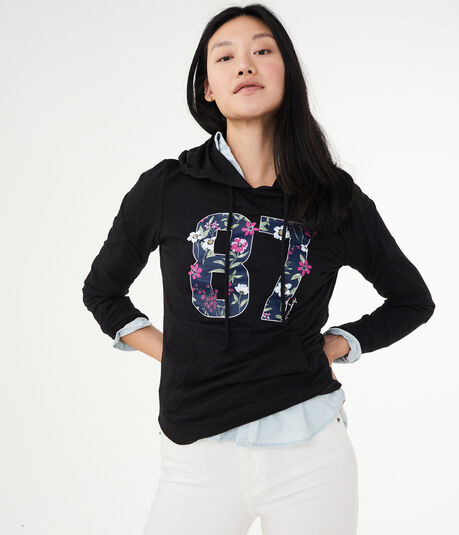 Lightweight Floral 87 Pullover Hoodie