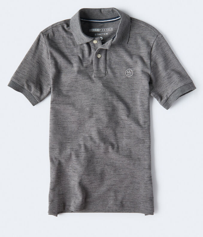 A87NY Stretch Piqué Polo