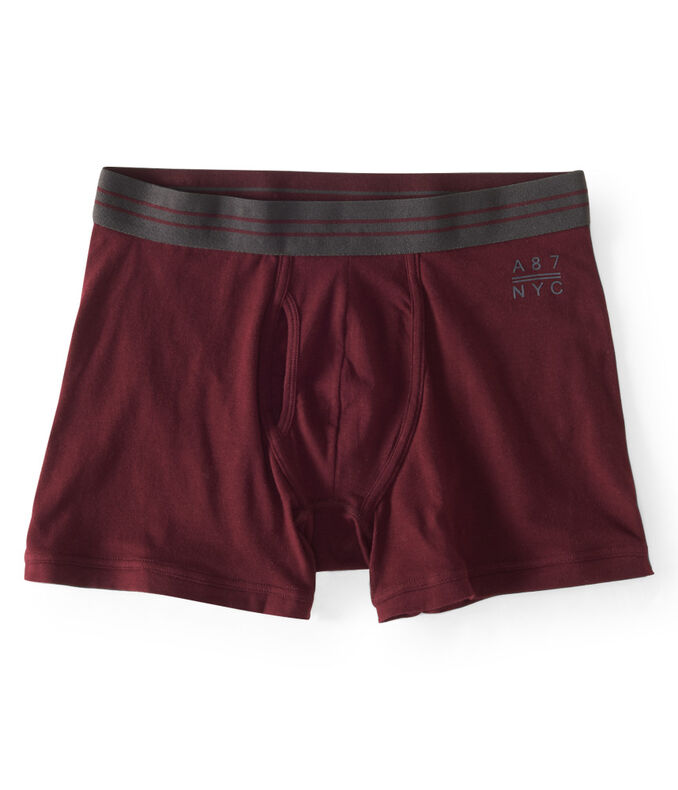 Solid Knit Boxer Briefs