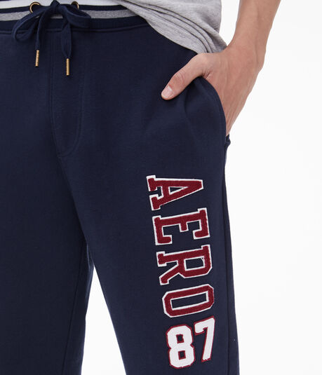 Aero 87 Striped-Waist Jogger Sweatpants