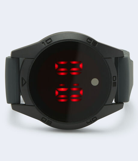 Round Rubber Digital Watch