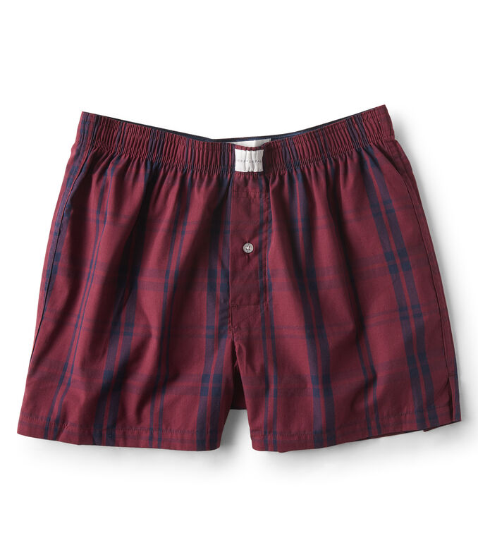 Plaid Woven Boxers