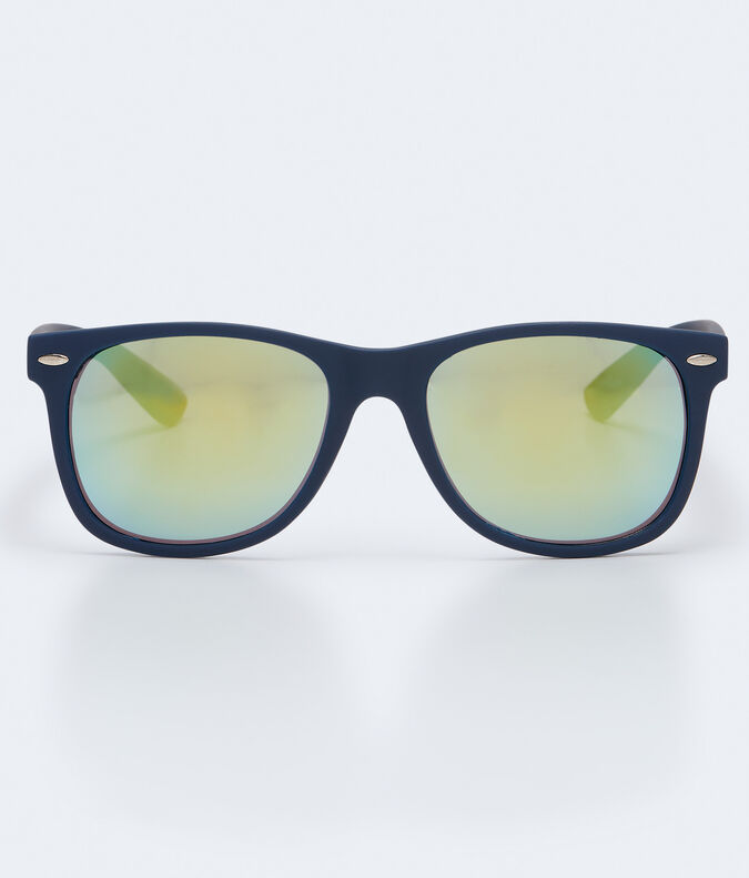 Matte Plastic Mirrored Waymax Sunglasses