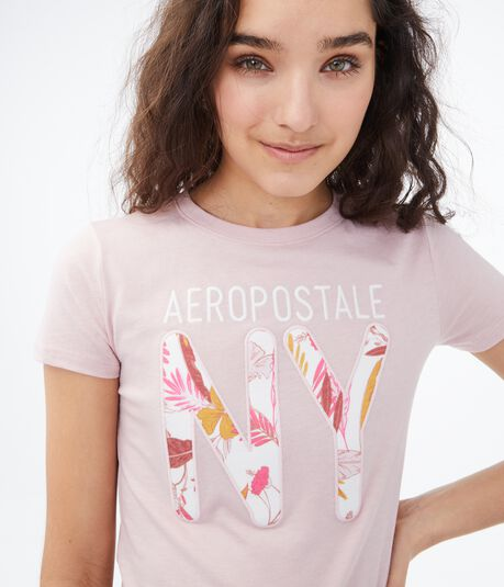 Aeropostale Floral NY Graphic Tee