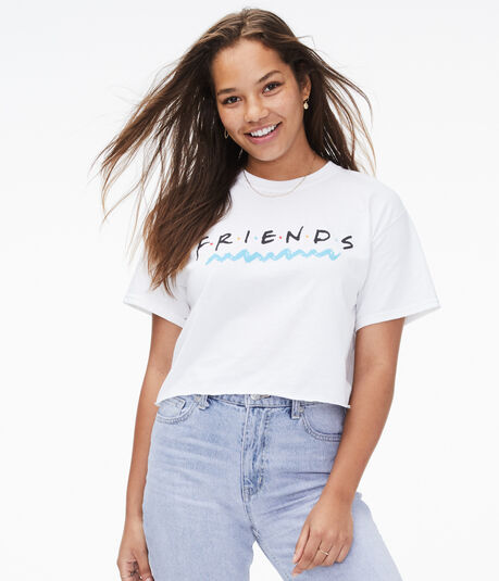 Friends Cropped Graphic Tee