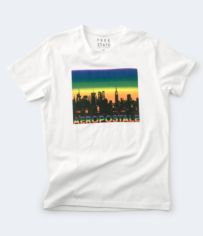Free State NYC Skyline Pride Graphic Tee
