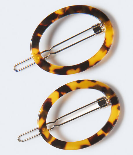 Tortoiseshell Circle Barrette 2-Pack