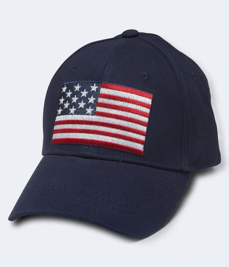 American Flag Fitted Hat