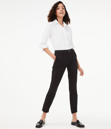 Slim High-Rise Pants