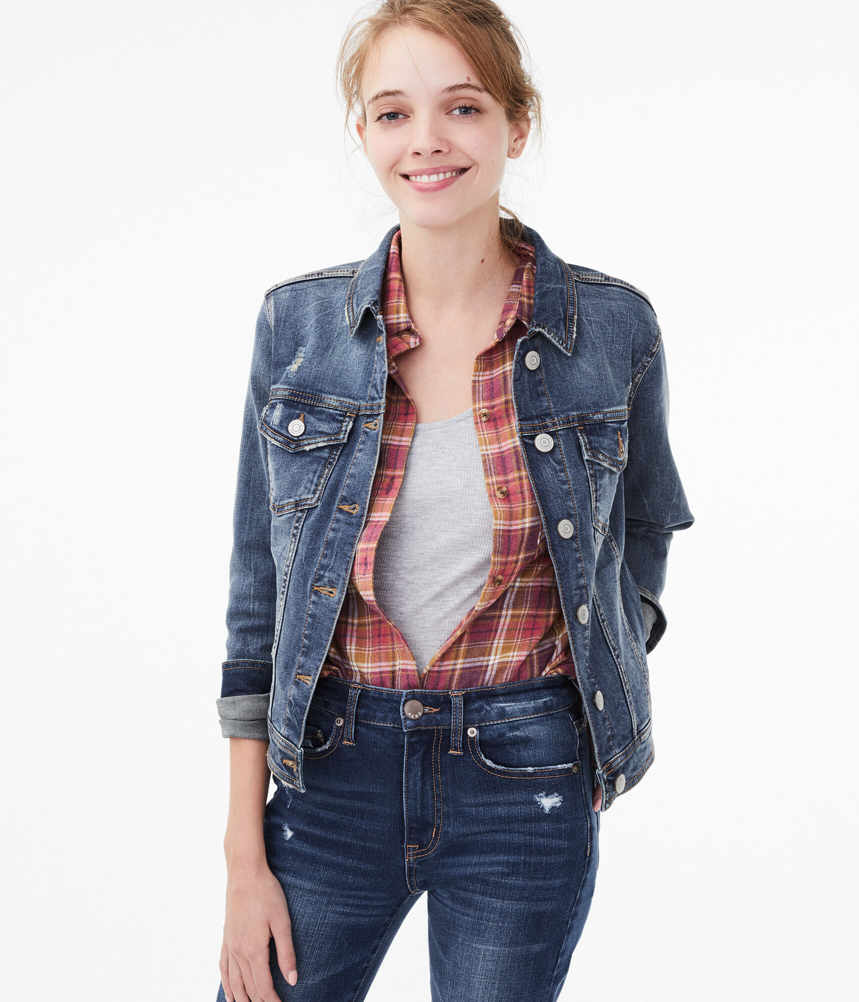 a3600ec0 Seriously Stretchy Medium Wash Denim Jacket