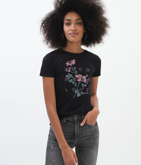 Show More Love Floral Graphic Tee