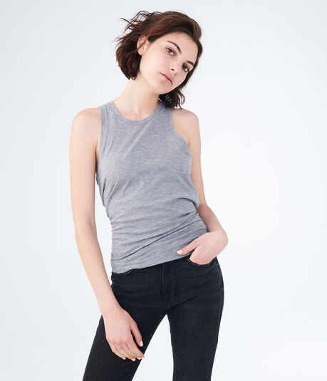 Solid Tie-Back Muscle Tank