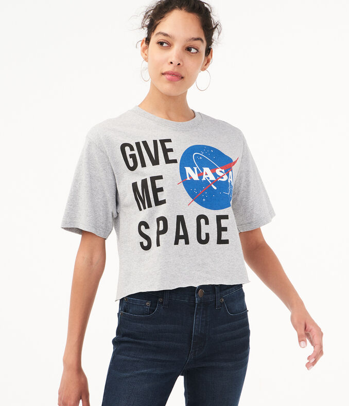 NASA Give Me Space Crop Graphic Tee