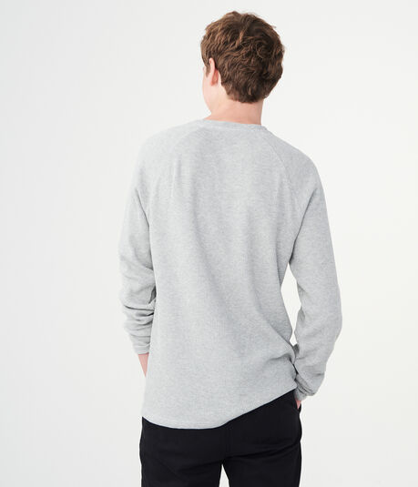 Long Sleeve Solid Thermal Henley