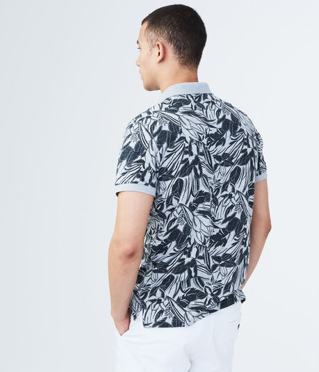 Rainforest Floral Jersey Polo