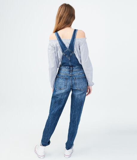 Medium Wash Denim Overalls