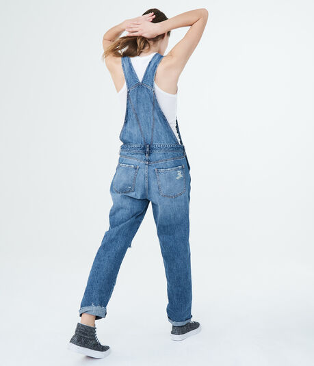 Aero One Medium Wash Denim Overalls