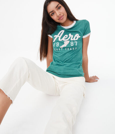 Aero East Coast Ringer Graphic Tee