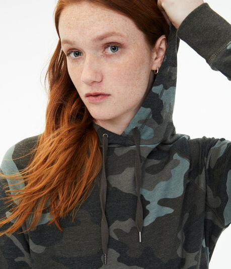 Camo Oversized Pullover Hoodie