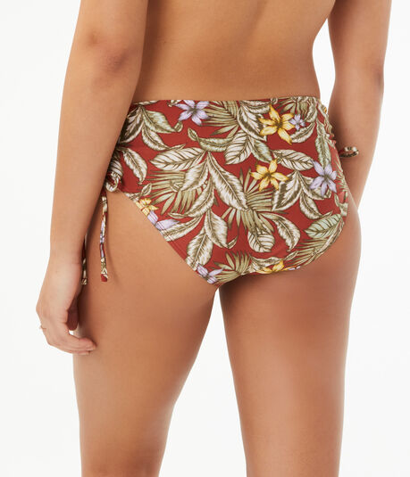 Tropical Flower Cinched Hipster Bottom