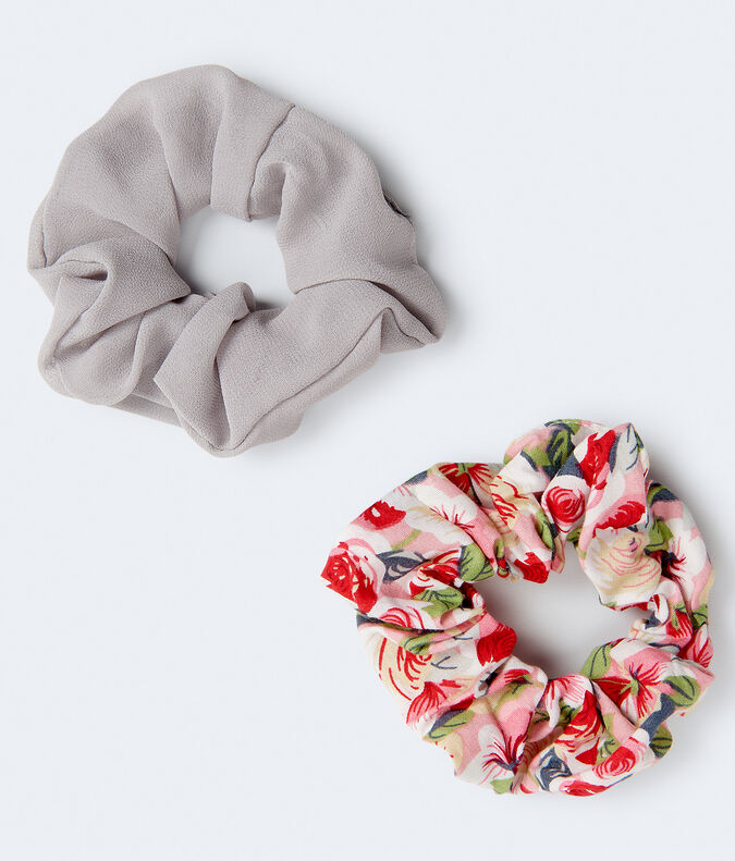 Solid & Roses Scrunchie 2-Pack