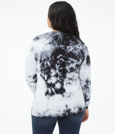Long Sleeve NASA Tie-Dye Boyfriend Graphic Tee