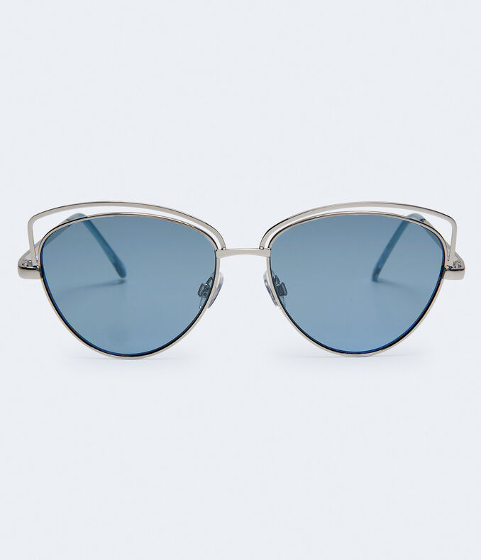 Geometric Mirrored Sunglasses