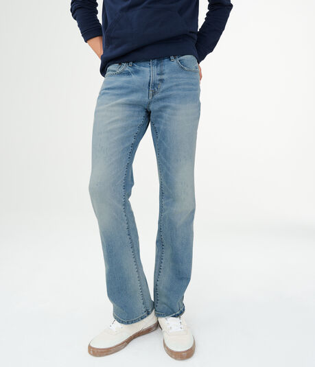 Slim Bootcut Light Wash Stretch Jean