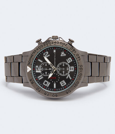 Metal Round Chrono Analog Watch