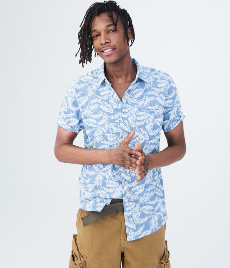 Tropical Chambray Woven Shirt