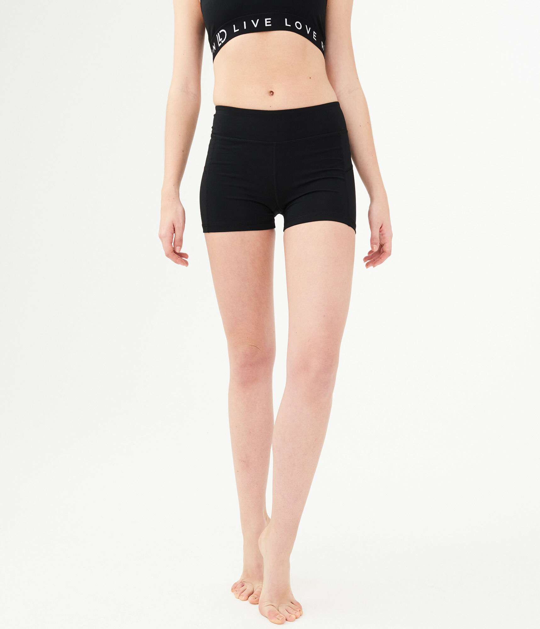 Womens Black Volleyball Shorts  Aeropostale-4969