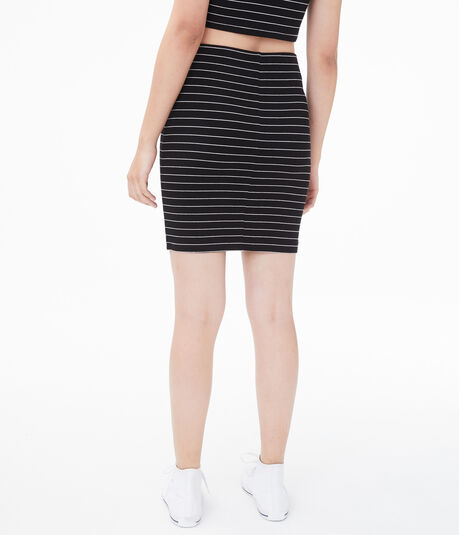Seriously Soft Striped Bodycon Skirt
