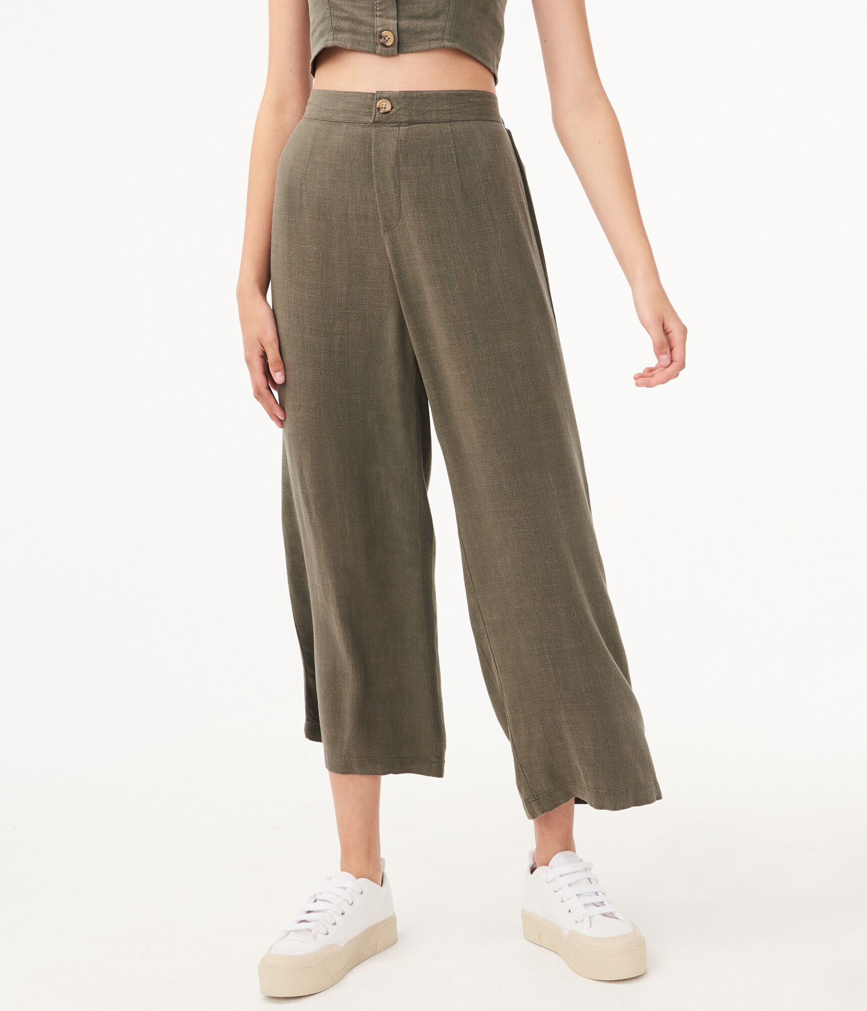 better price world-wide selection of how to orders High-Rise Linen Wide-Leg Pants