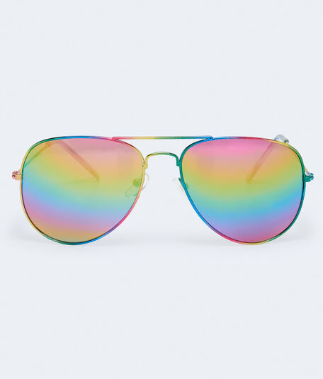 Rainbow Aviator Sunglasses***