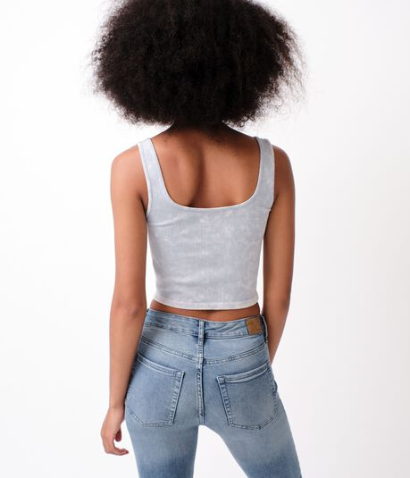 Seamless Washed Cropped Tank