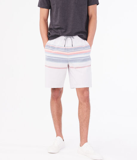 "Striped 9"" Jogger Shorts"