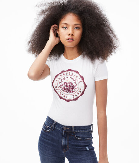 Rose Logo Crest Graphic Tee