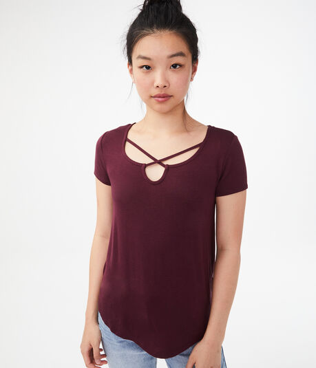 Seriously Soft Strappy Notch Tee