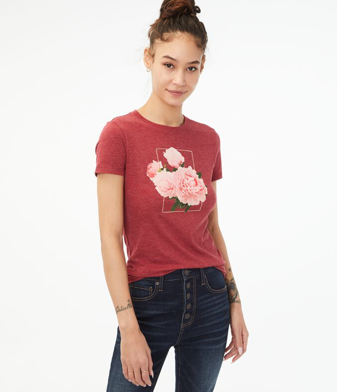 Floral Frame Graphic Tee