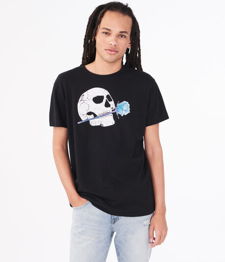 Skull Rose Graphic Tee