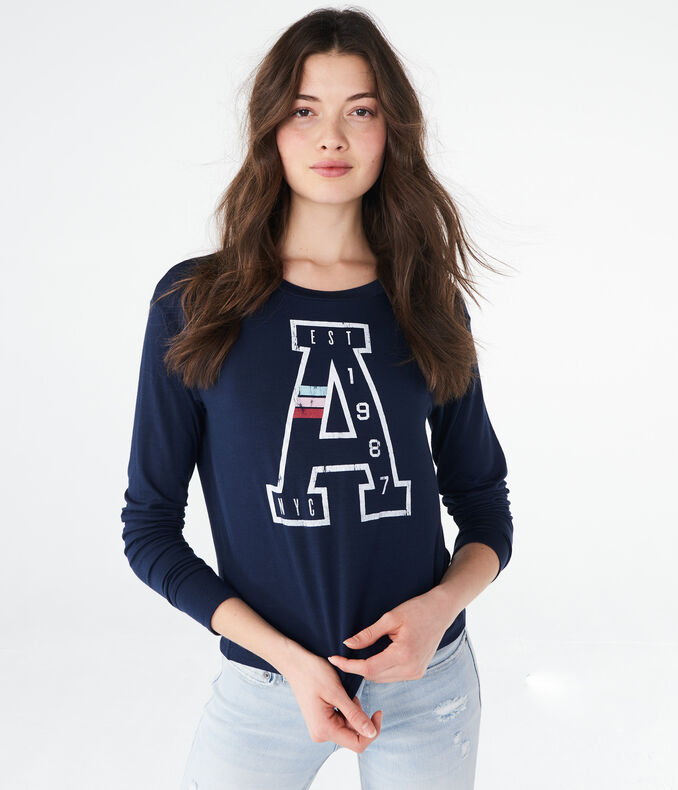 "Long Sleeve ""A"" Est 1987 Tomboy Graphic Tee"