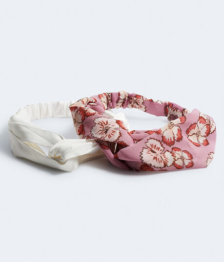 Floral & Solid Headband 2-Pack