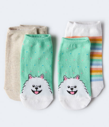 Puppy Dots Ankle Sock 3-Pack