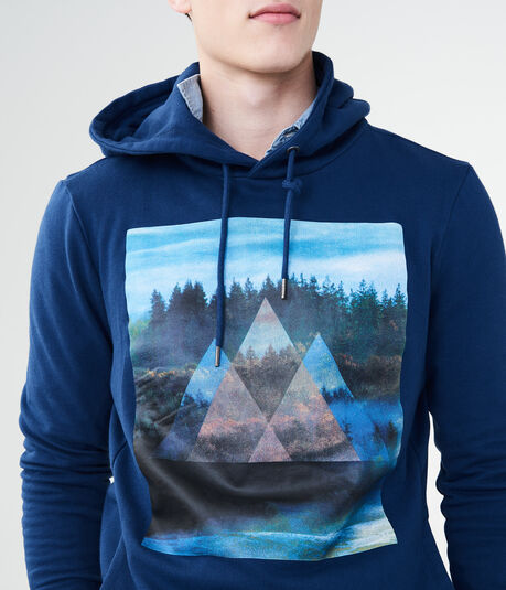 Mountain Triangles Pullover Hoodie