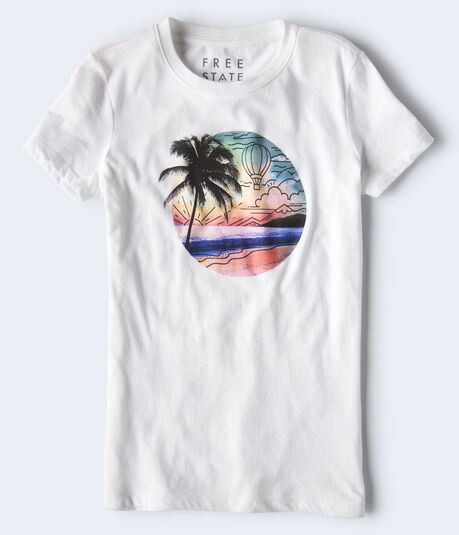 Free State Beach Scene Graphic Tee