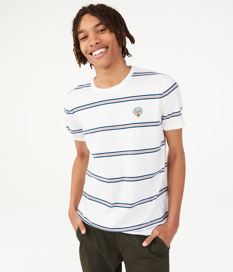 268158fdc79c6 Surf Patch Striped Crew Tee ...