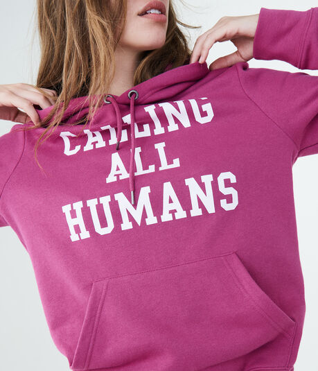 Aero One Calling All Humans Pullover Hoodie