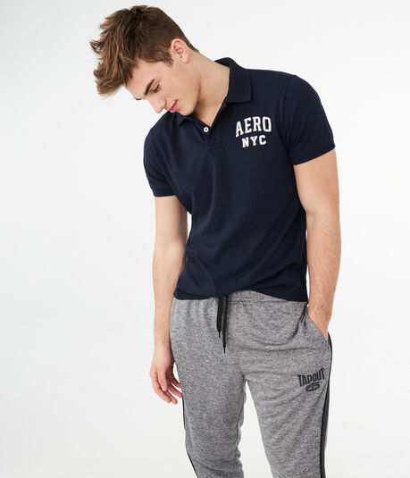 Aero NYC Logo Graphic Jersey Polo
