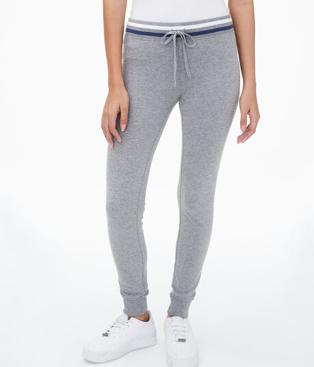 Striped-Waist Jogger Sweatpants