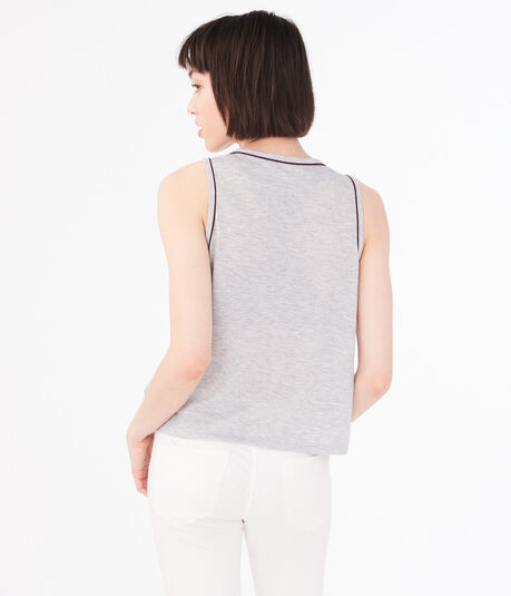 Heathered Piped Muscle Tank